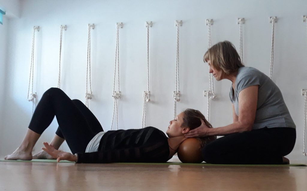 Neck, Shoulders and your Breath: Yamuna Body Rolling + Yoga - Karmuka Yoga