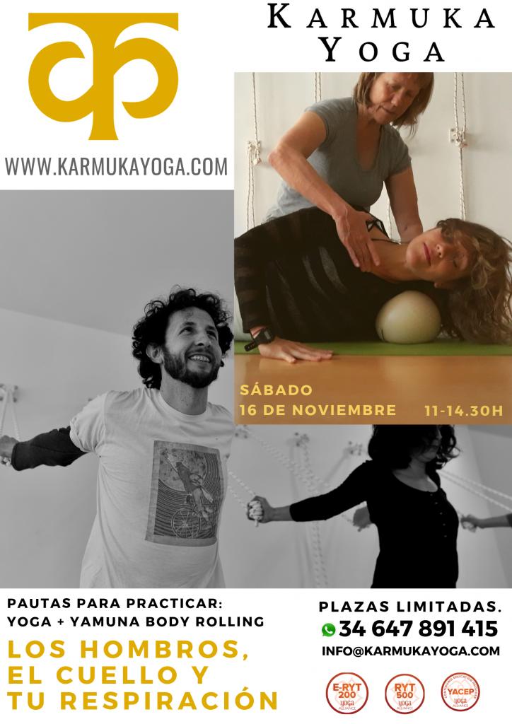 Neck, Shoulders and your Breath: Yamuna Body Rolling + Yoga - Karmuka Yoga