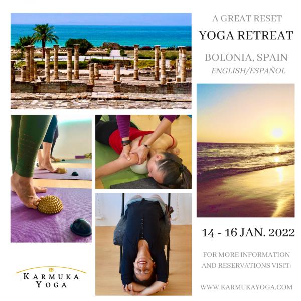 Karmuka Yoga and Yamuna Body Rolling Retreat. Bolonia, Spain. España. January. Enero. Retiro