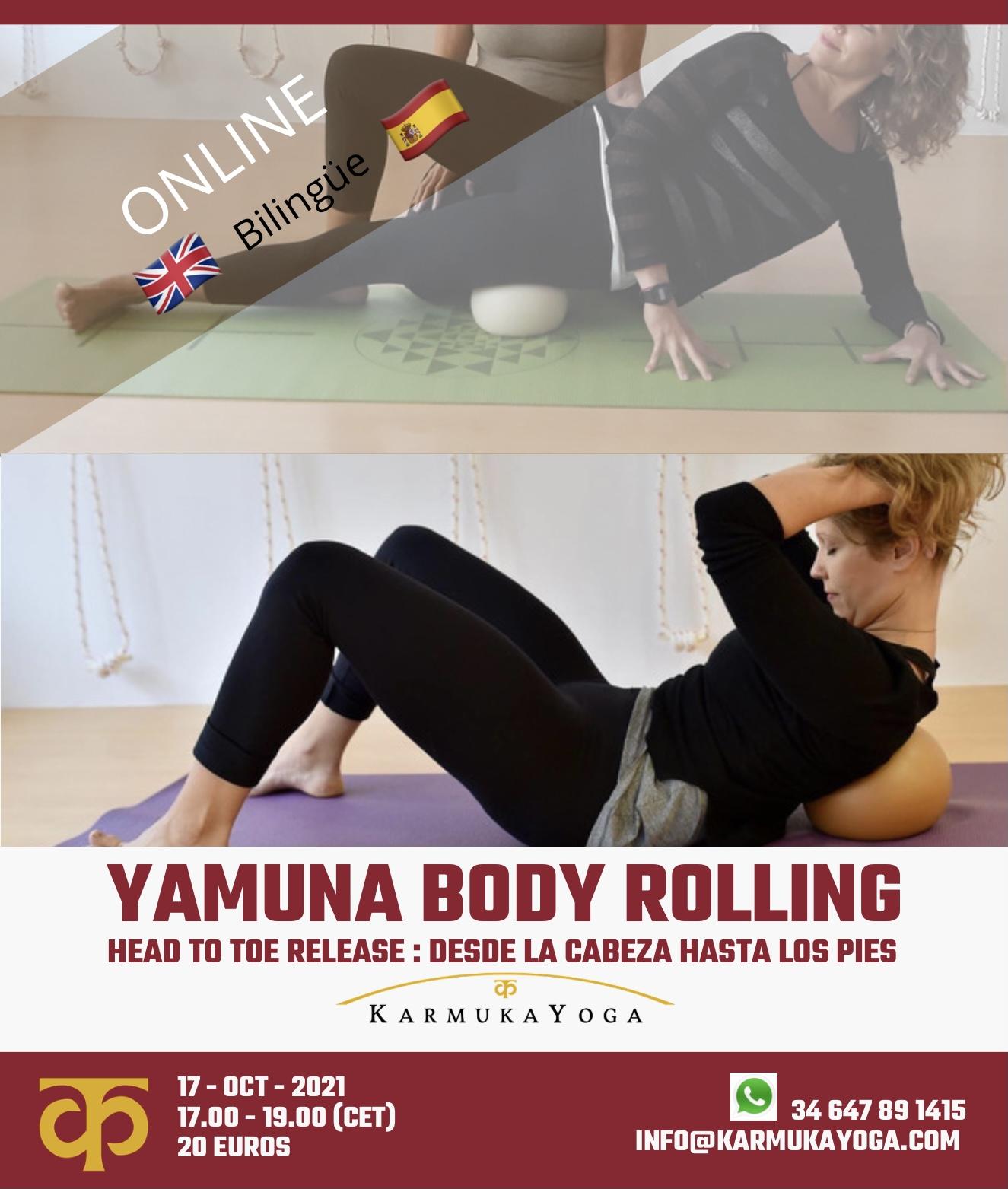 Yamuna Body Rolling from head to toe Karmuka Yoga